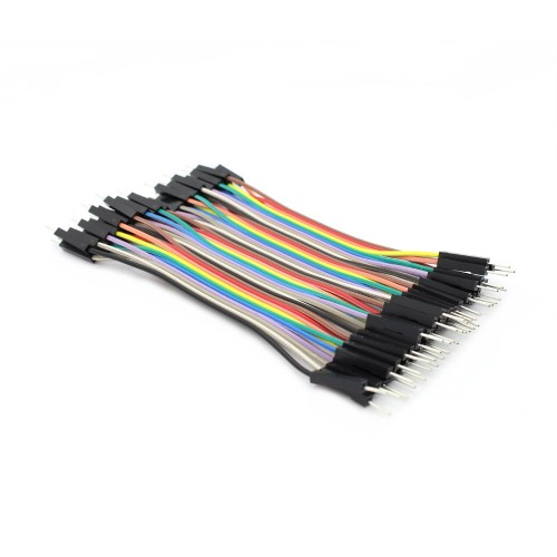 Cable Dupont 10cm M-M x 20 Uds.