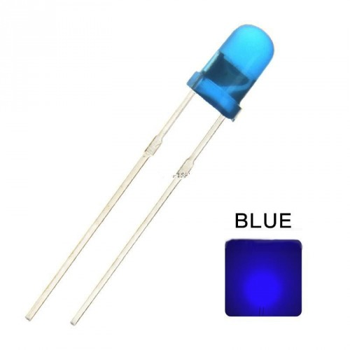 Lote LEDs 5mm azules (5 uds.)
